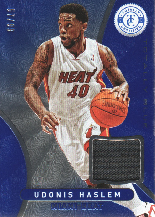 2012-13 Totally Certified Blue Materials #133 Udonis Haslem/99