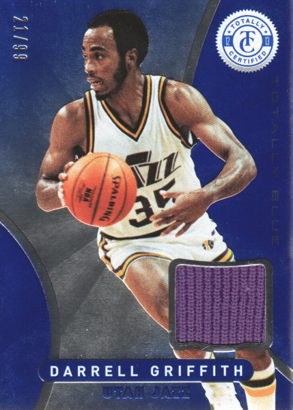 2012-13 Totally Certified Blue Materials #147 Darrell Griffith/99