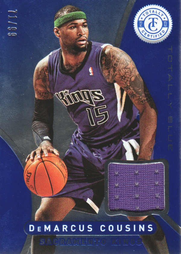 2012-13 Totally Certified Blue Materials #148 DeMarcus Cousins/99