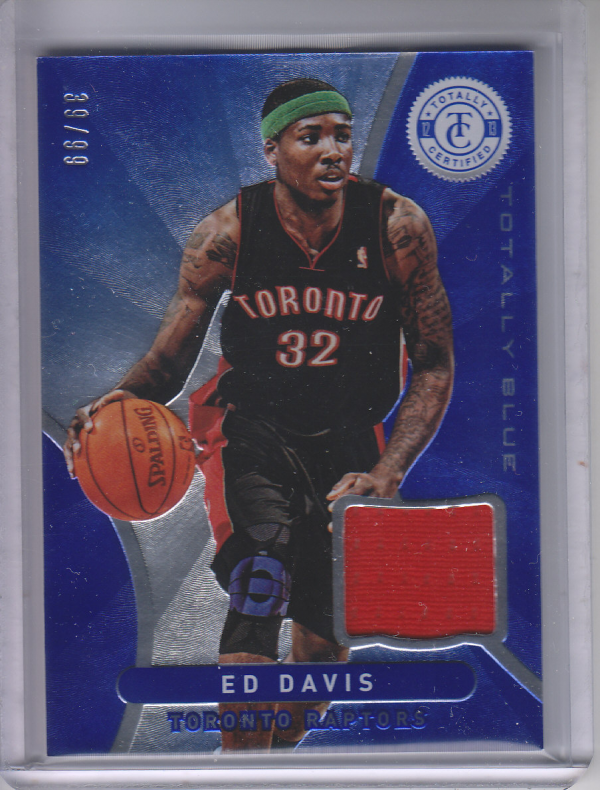 2012-13 Totally Certified Blue Materials #149 Ed Davis/99