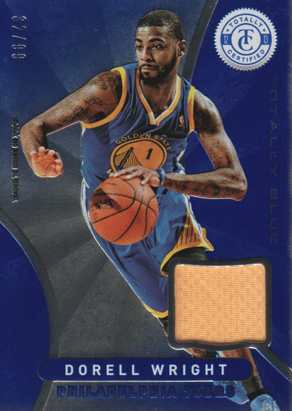 2012-13 Totally Certified Blue Materials #150 Dorell Wright/99