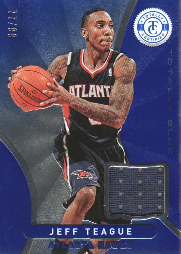 2012-13 Totally Certified Blue Materials #159 Jeff Teague/99