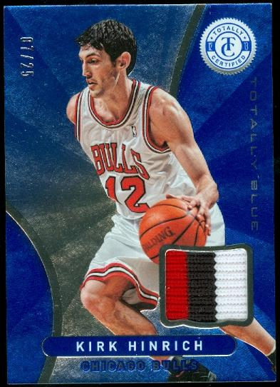 2012-13 Totally Certified Blue Materials Prime #24 Kirk Hinrich/25