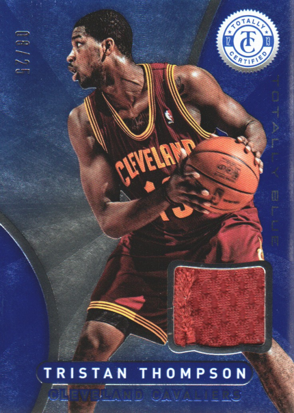 2012-13 Totally Certified Blue Materials Prime #52 Tristan Thompson/25