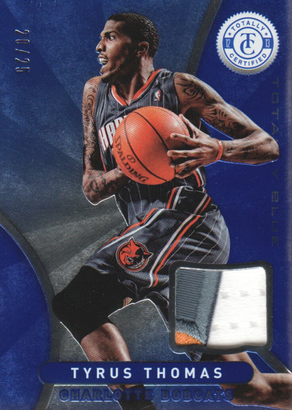 2012-13 Totally Certified Blue Materials Prime #53 Tyrus Thomas/25