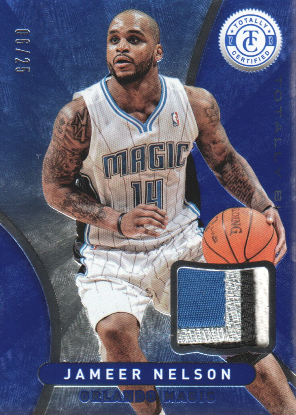 2012-13 Totally Certified Blue Materials Prime #68 Jameer Nelson/25