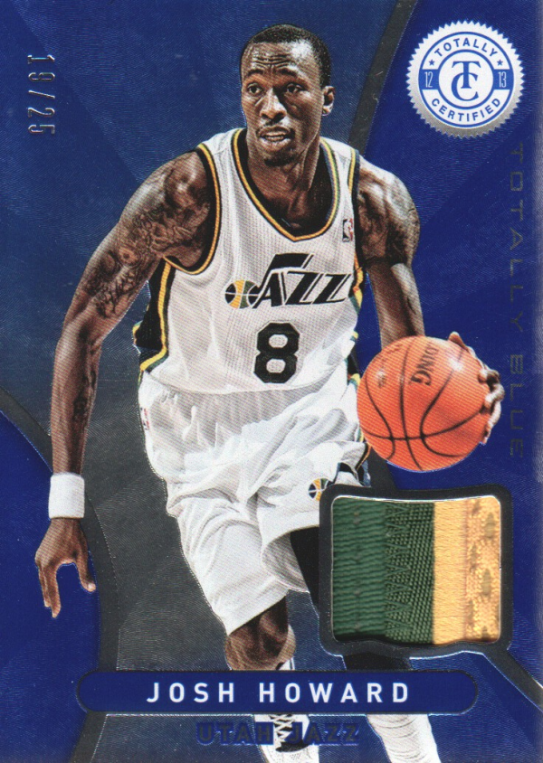 2012-13 Totally Certified Blue Materials Prime #70 Josh Howard/25