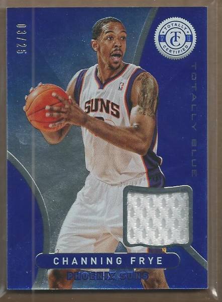 2012-13 Totally Certified Blue Materials Prime #115 Channing Frye/25
