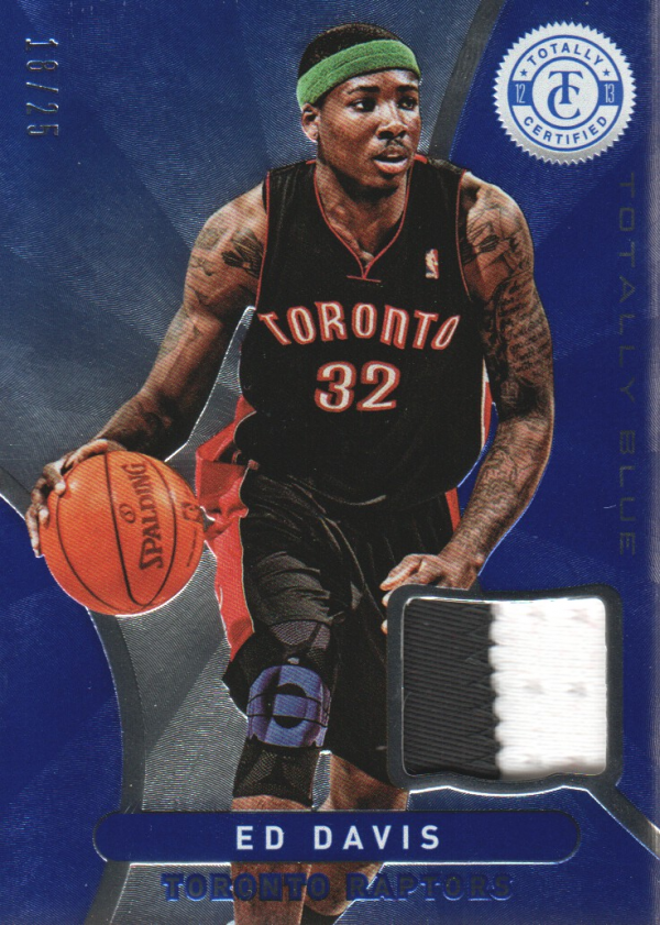 2012-13 Totally Certified Blue Materials Prime #149 Ed Davis/25