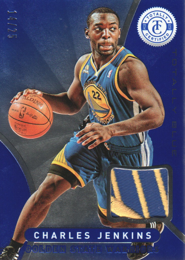 2012-13 Totally Certified Blue Materials Prime #187 Charles Jenkins/25