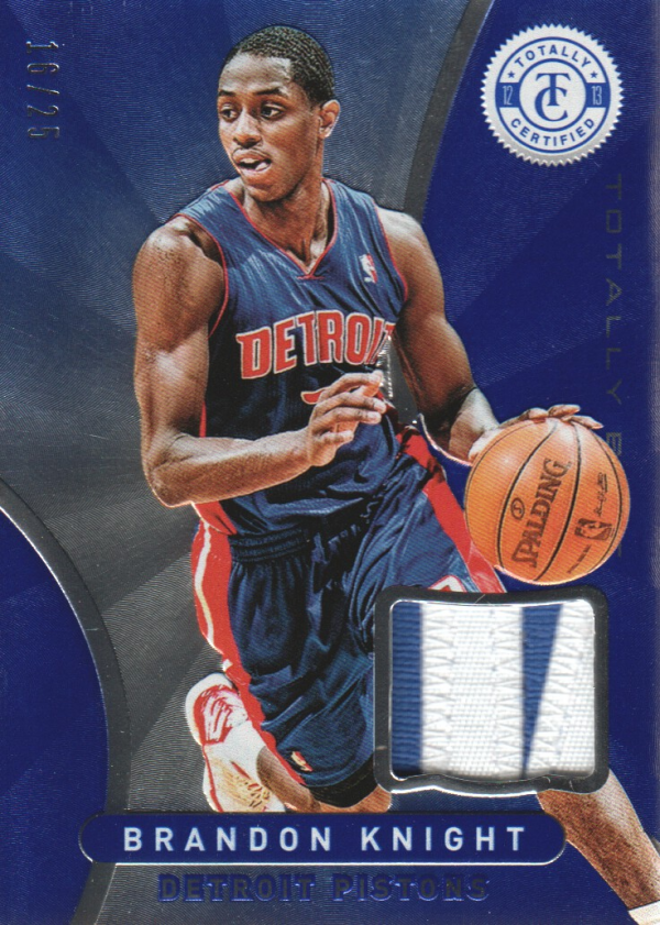2012-13 Totally Certified Blue Materials Prime #192 Brandon Knight/25