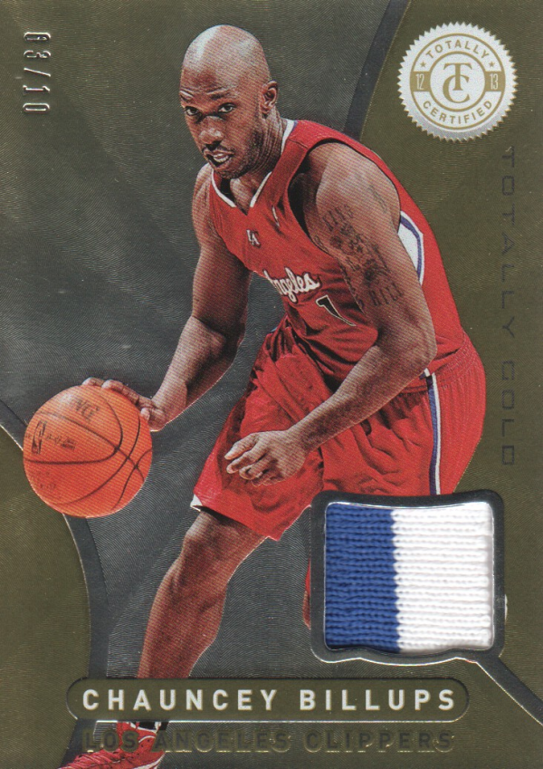 2012-13 Totally Certified Gold Materials Prime #188 Chauncey Billups/10