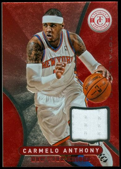 2012-13 Totally Certified Red Materials #11 Carmelo Anthony