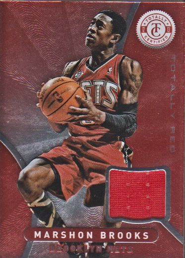 2012-13 Totally Certified Red Materials #39 MarShon Brooks