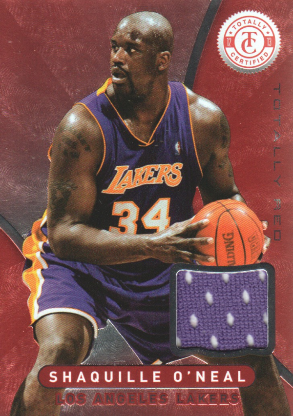 2012-13 Totally Certified Red Materials #46 Shaquille O'Neal