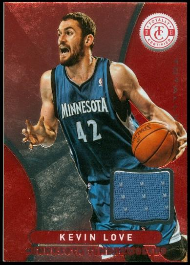 2012-13 Totally Certified Red Materials #97 Kevin Love
