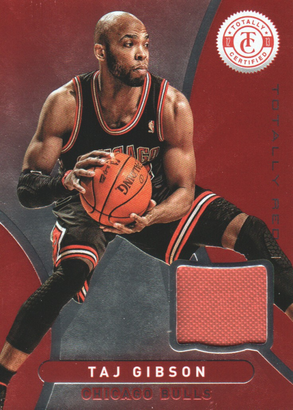 2012-13 Totally Certified Red Materials #102 Taj Gibson