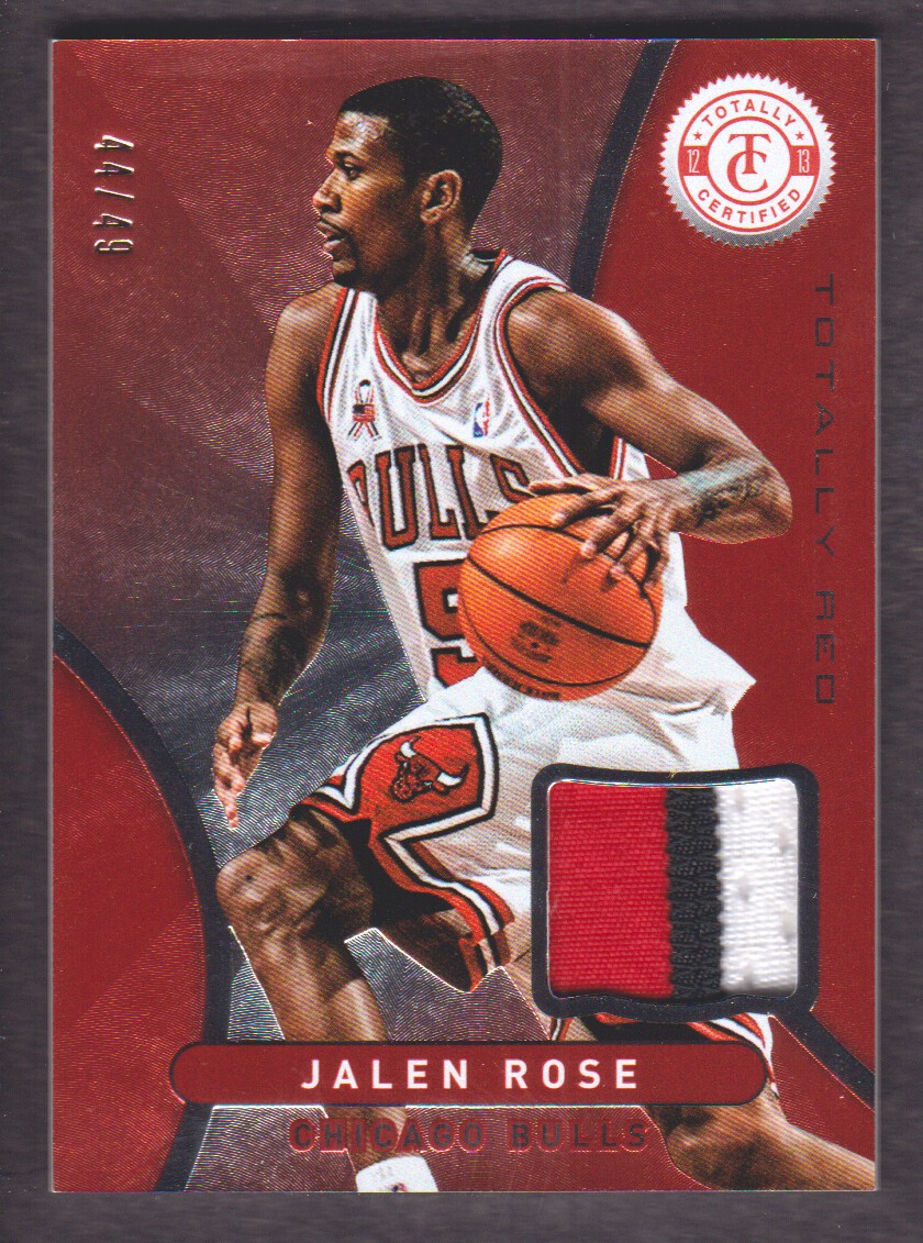2012-13 Totally Certified Red Materials Prime #21 Jalen Rose