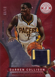 2012-13 Totally Certified Red Materials Prime #60 Darren Collison