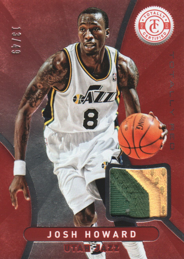2012-13 Totally Certified Red Materials Prime #70 Josh Howard