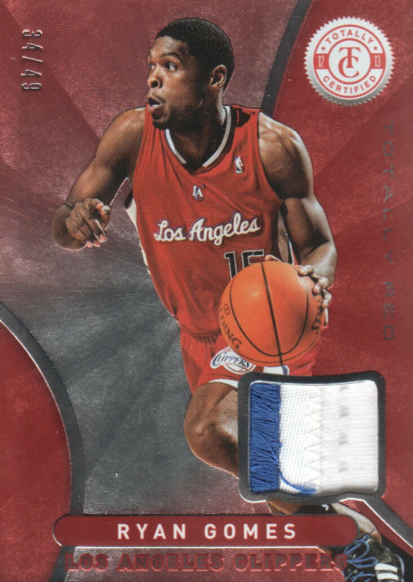 2012-13 Totally Certified Red Materials Prime #79 Ryan Gomes