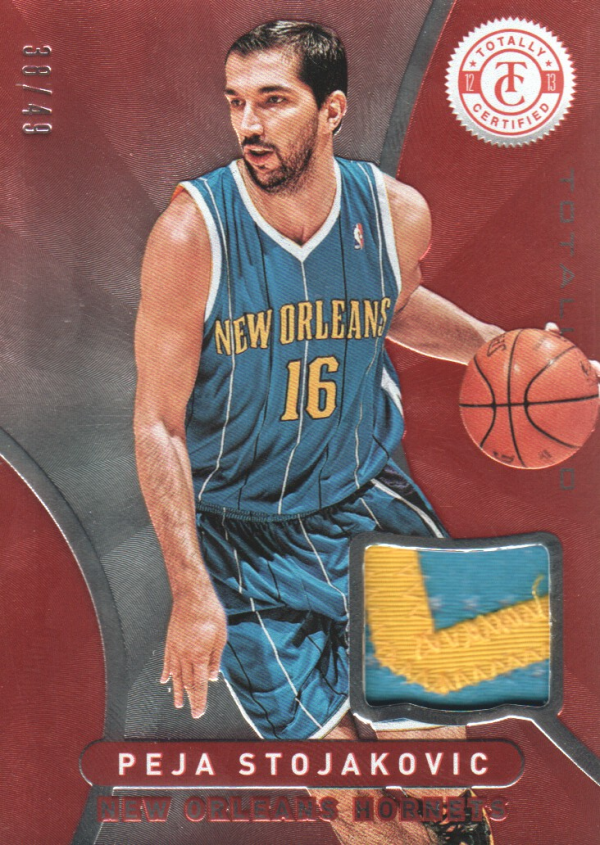 2012-13 Totally Certified Red Materials Prime #168 Peja Stojakovic