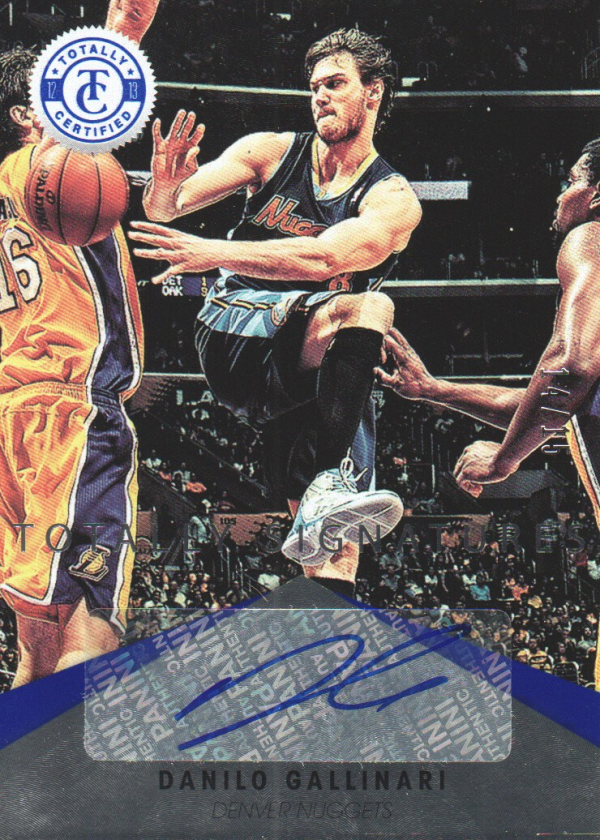 2012-13 Totally Certified Blue Autographs #2 Danilo Gallinari