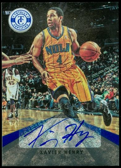 2012-13 Totally Certified Blue Autographs #16 Xavier Henry