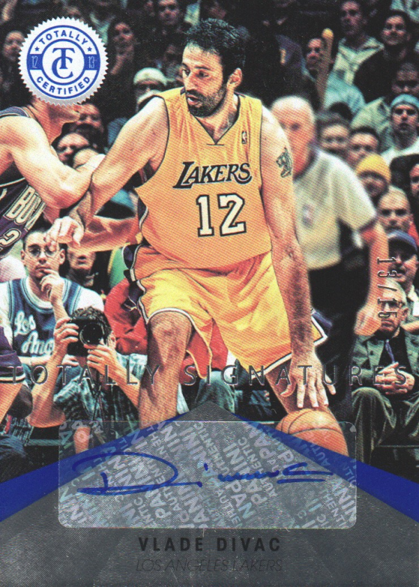 2012-13 Totally Certified Blue Autographs #99 Vlade Divac
