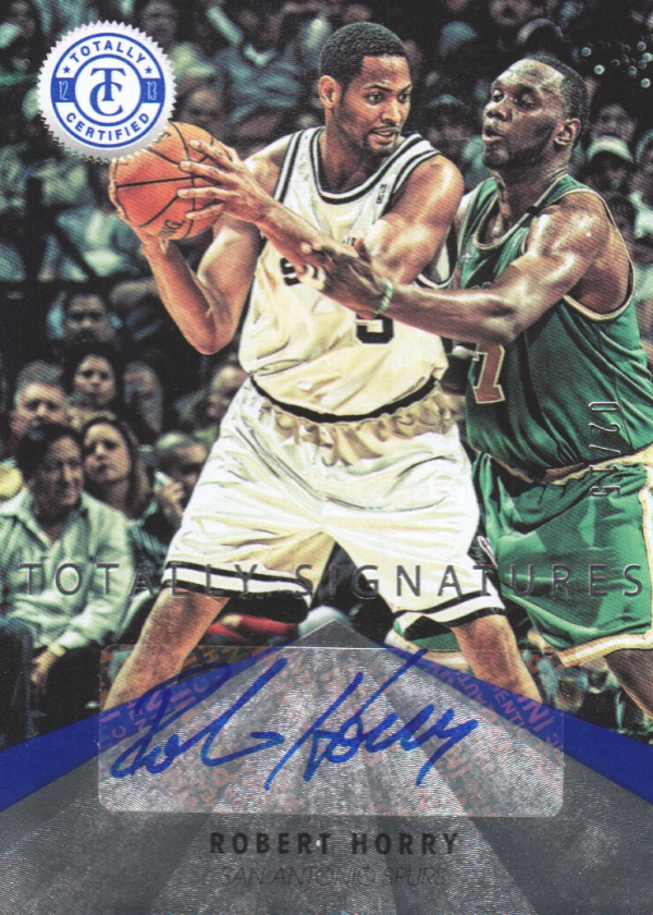 2012-13 Totally Certified Blue Autographs #100 Robert Horry