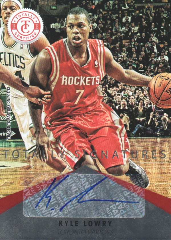 2012-13 Totally Certified Red Autographs #70 Kyle Lowry
