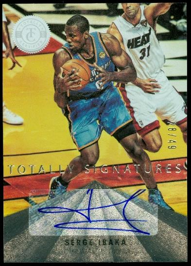2012-13 Totally Certified Autographs #31 Serge Ibaka/49