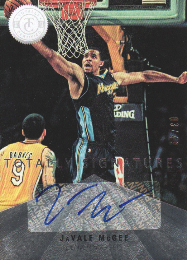 2012-13 Totally Certified Autographs #51 JaVale McGee/49