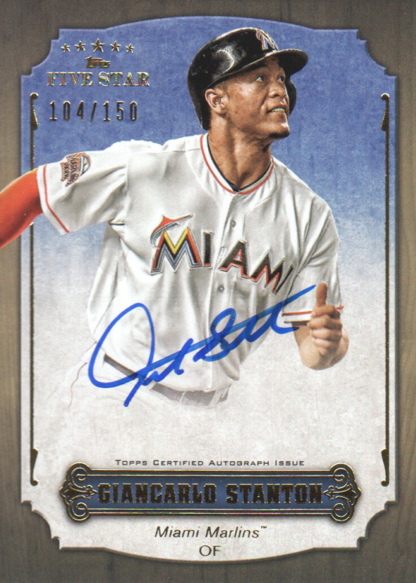 2012 Topps Five Star Active Autographs #GS Giancarlo Stanton/150