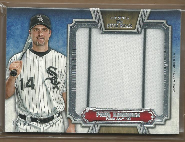 2012 Topps Five Star Jumbo Jersey #PK Paul Konerko