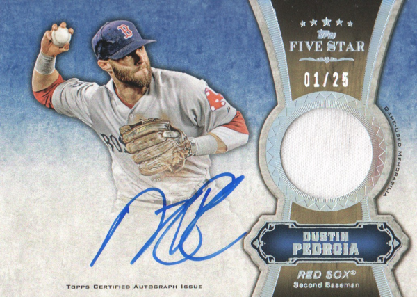 2012 Topps Five Star Relic Autographs Rainbow #DP Dustin Pedroia/25