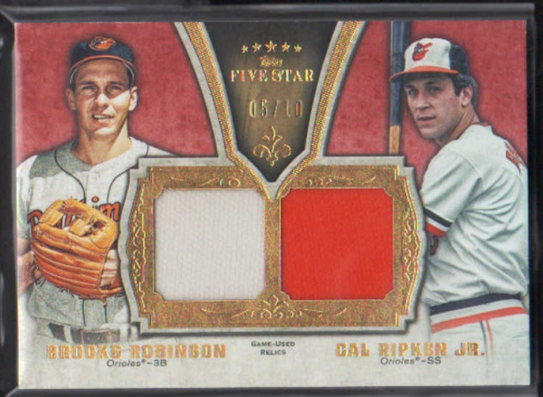2012 Topps Five Star Retired Dual Relics #BC Brooks Robinson/Cal Ripken Jr.