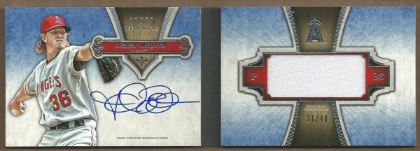 2012 Topps Five Star Jumbo Relic Autograph Books #JW Jered Weaver EXCH