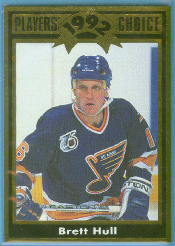 1992 Cartwright's Gold Foil Card #5 Brett Hull