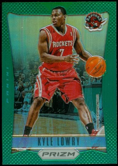 2012-13 Panini Prizm Prizms Green #84 Kyle Lowry