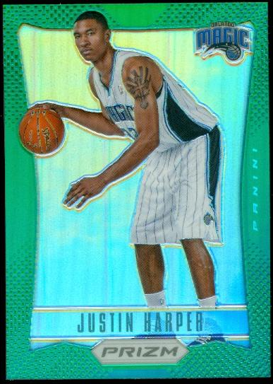 2012-13 Panini Prizm Prizms Green #229 Justin Harper