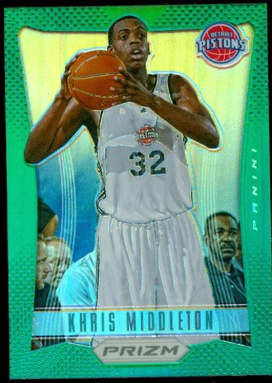 2012-13 Panini Prizm Prizms Green #285 Khris Middleton