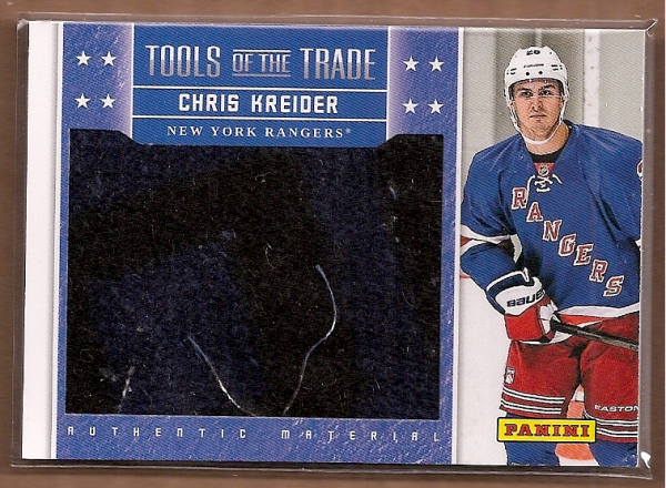 2012-13 Panini Tools of the Trade Materials Kreider Promos #1 Chris Kreider Black Friday/(standing pose)