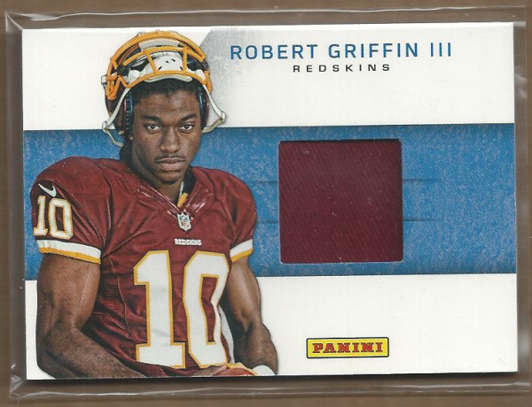 2012 Panini Black Friday Rookie Materials Hats #1 Robert Griffin III SP