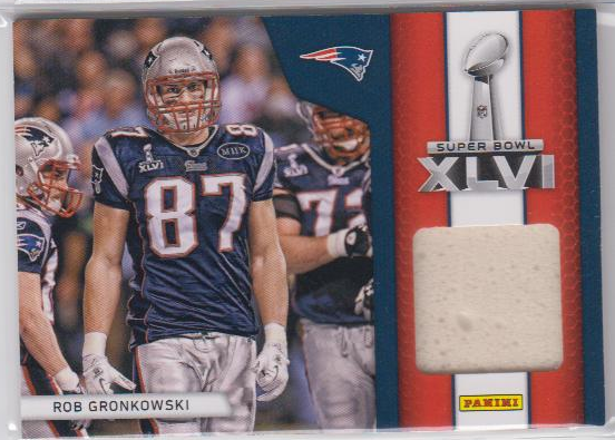 2012 Panini Black Friday Super Bowl Materials Pylons #13 Rob Gronkowski