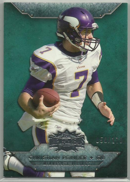 2012 Topps Triple Threads Emerald #56 Christian Ponder