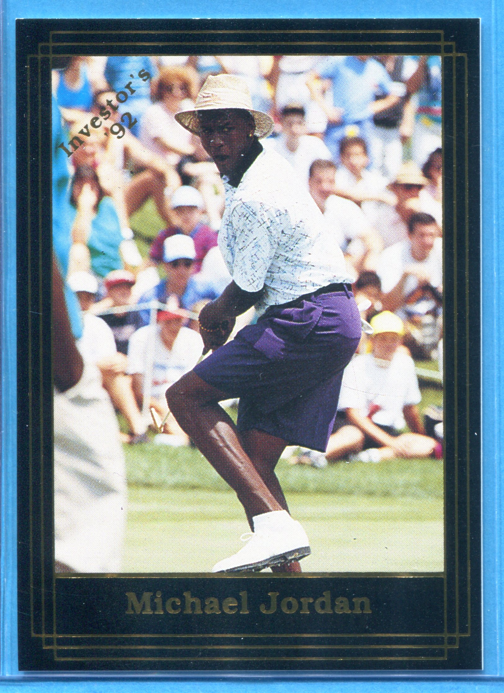 1992 Investor's Journal Black Gold Golf Card #14 Michael Jordan