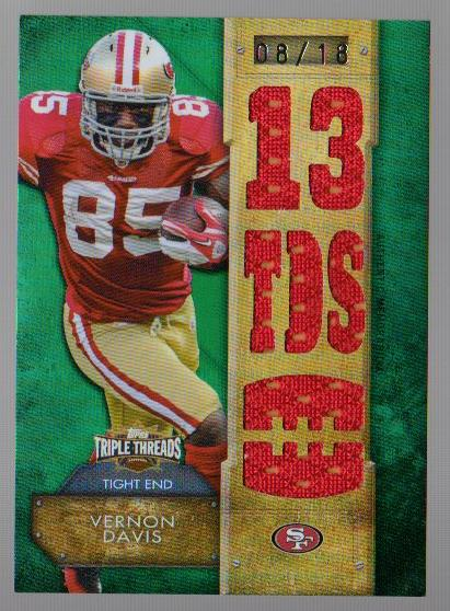 2012 Topps Triple Threads Relic Emerald #TTR107 Vernon Davis