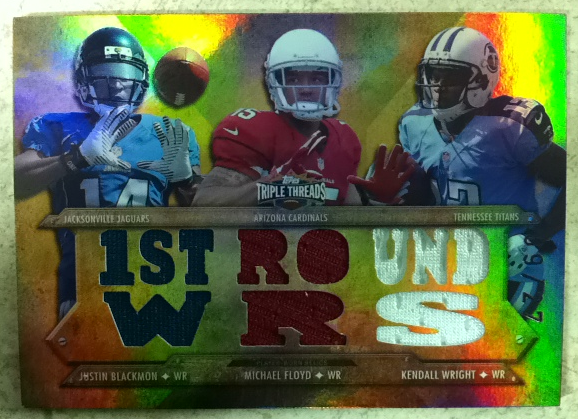 2012 Topps Triple Threads Relic Combos Sepia #TTRC3 Kendall Wright/Michael Floyd/Justin Blackmon