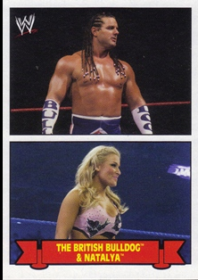 2012 Topps Heritage WWE Family History #6 The British Bulldog/ Natalya